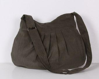 Messenger bag / Everyday bag / Pleated Bag /Tote / Shoulder Bag / Adjustable strap / Olive Green / Cross Body / Diaper Bag