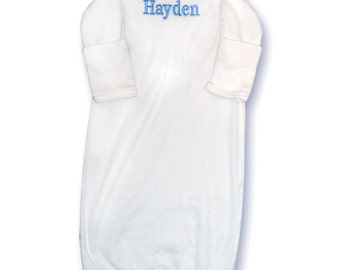 Monogrammed Infant Sleeper Gown