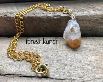 Citrine Quartz Womans Necklace