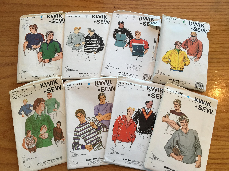 U Pick 1970\'s Kwik Sew Mens Sewing Pattern~ 506, 1083, 1282, 1553 ...