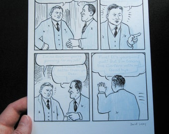 """Eisner Award winning """"Carter Family"""" GN orginal art, Ralph Peer"""