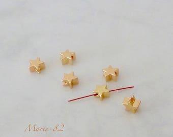 Star beads / 5 mm - brass