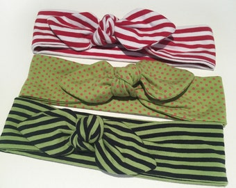 Hair bands for girls, adjustable headband, headband with bow, colored bands for children in Stretch cotton.