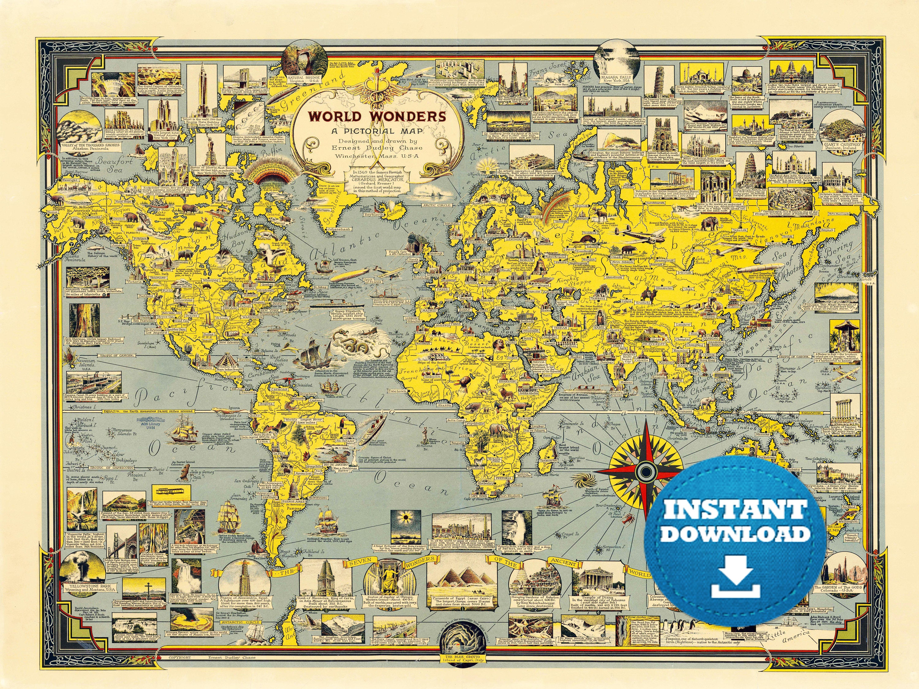 Digital old world map printable download vintage world map zoom gumiabroncs Image collections