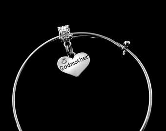 Godmother bracelet Godmother Charm Bracelet Godmother Jewelry God mother Bracelet God Mother charm Bracelet
