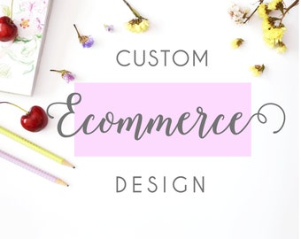 Ecommerce wordpress theme and logo design, complete site design, web design with shopping cart, branding package