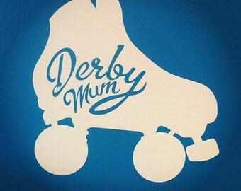 Derby Mom/Derby Mum, Roller Derby Vinyl Decal