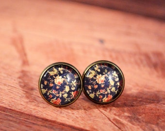 Rose Floral Stud Earrings, Floral Studs, Floral Jewelry, Floral Stud Earrings, Floral Earrings, Rose Studs, Rose Earrings, Rose Jewelry
