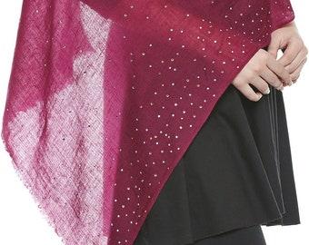 Cashmere Wandering Starsprune Swarovski Handmade Hijab