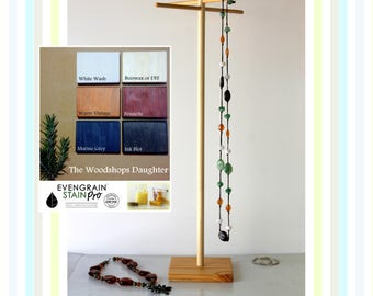 Long & Tall Jewelry Organizer, Long Necklace Tree, Bracelet and Necklace Storage, Craft Show Display Rack, Retail Store Countertop Showcase,