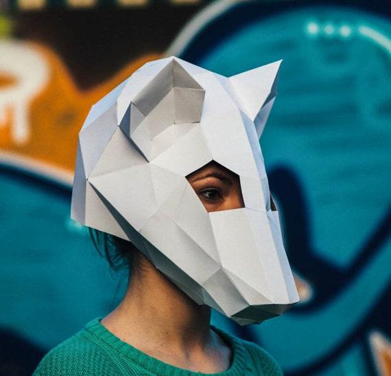 Diy Cardboard Masks: Papercraft Rat Mask Papercraft Template Printable Mask DIY