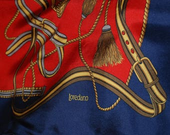 Seidentuch Vintage - Original 80er - scarf - riesig