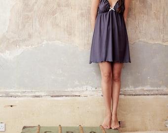 Lingerie Nightgown - Organic Cotton and Soy Nightie/ nightgown Lingerie, Organic nightwear, Organic nightgown, pajama, nightdress, sleepwear