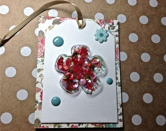 Art Card, Shaker Card, Flower Tag, Home Decor