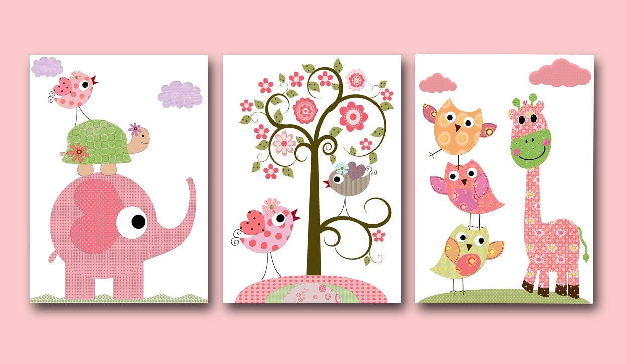 Art for Children Kids Wall Art Baby Girl Room Decor Baby Girl