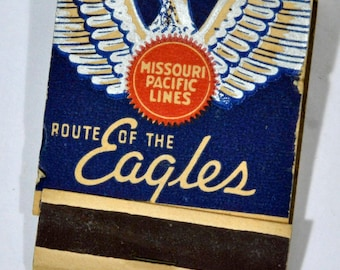 Missouri Pacific Railroad Vintage Matchbook