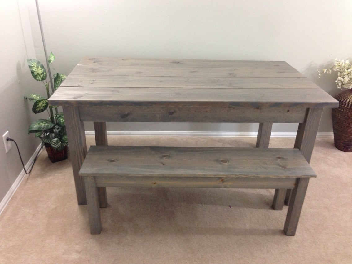 Farmhouse Table / Farm Table / Harvest Table driftwood grey for Driftwood Color Furniture  113cpg