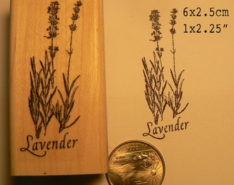 Lavender rubber stamp  P55