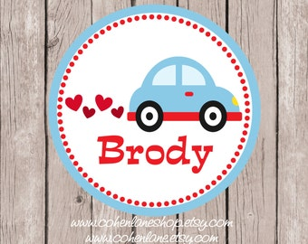 Printable Personalized Valentines Car Tshirt Transfer Design.  Valentine Iron On Transfer.  Personalized iron on. Valentines Shirt.