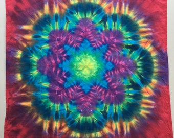 Bandanas Tie Dyed in Brilliant Patterns and Designs