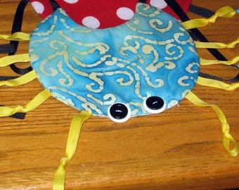 Handmade Baby bib - crab