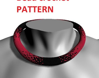 Bead crochet pattern tutorial necklace pattern jewelry pattern jewelry tribal pattern diy american jewelry make bracelet beadwork designs