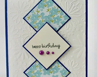 Birthday Card // Happy Birthday // For her // Handmade