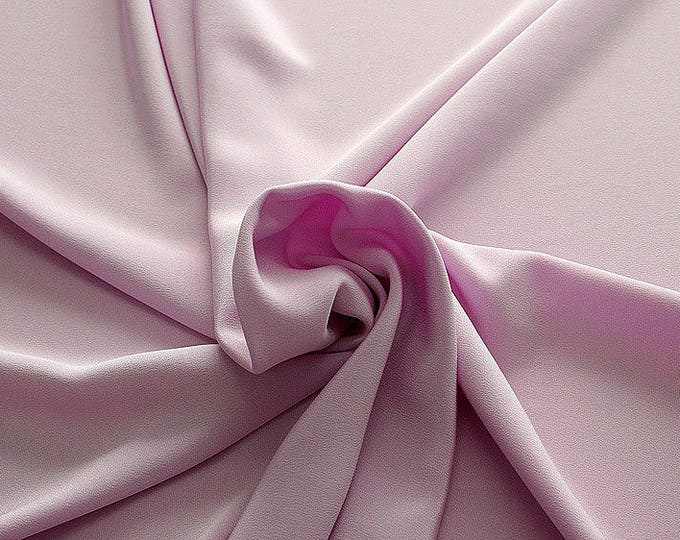 305209-Crepe marocaine Natural Silk 100%, width 130/140 cm, made in Italy, dry cleaning, weight 215 gr