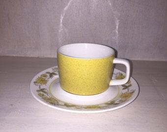 Vintage Mikasa Mediterranean Empire Gold Tea Cup and Saucer