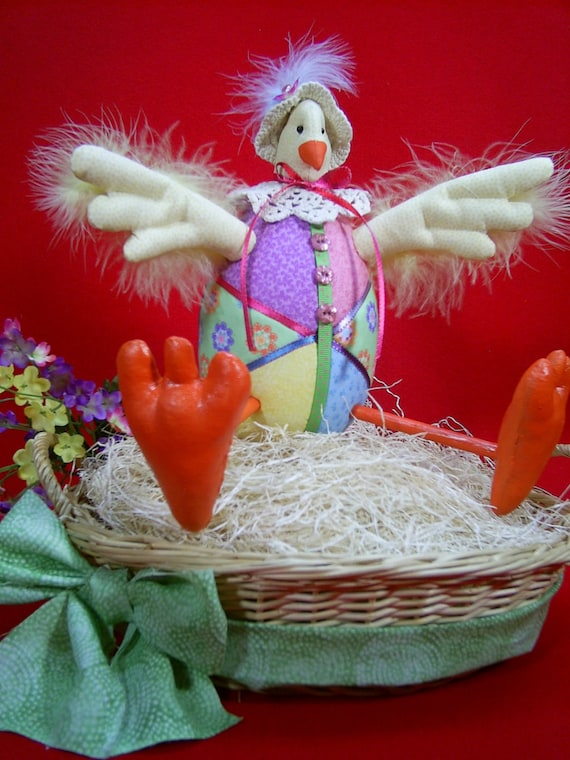 Easter Chick - Mailed Cloth Doll Pattern- 4in Adorable little Easter Chicken Bird Doll