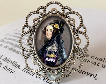 "Ada Lovelace Brooch - Ada Lovelace Jewelry, Women in Science Brooch, Mathematician Gift, ""Poetical Science"" Gift, Ada Lovelace Jewellery"