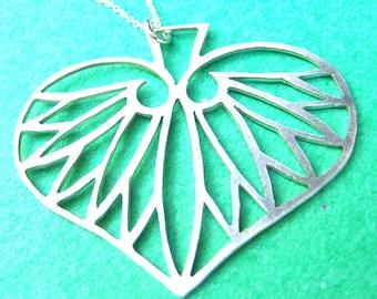 Sterling Silver Hasu No Ha (Lotus Leaf) Pendant