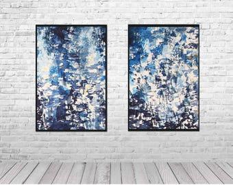minimalist art, watercolor paintings, digital prints original art, modern abstract print, Indigo Home Decor, blue abstract, watercolor print