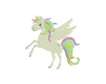 Pink Unicorn Machine Embroidery File design 5x7 inch or 13x18cm hoop Instant Download