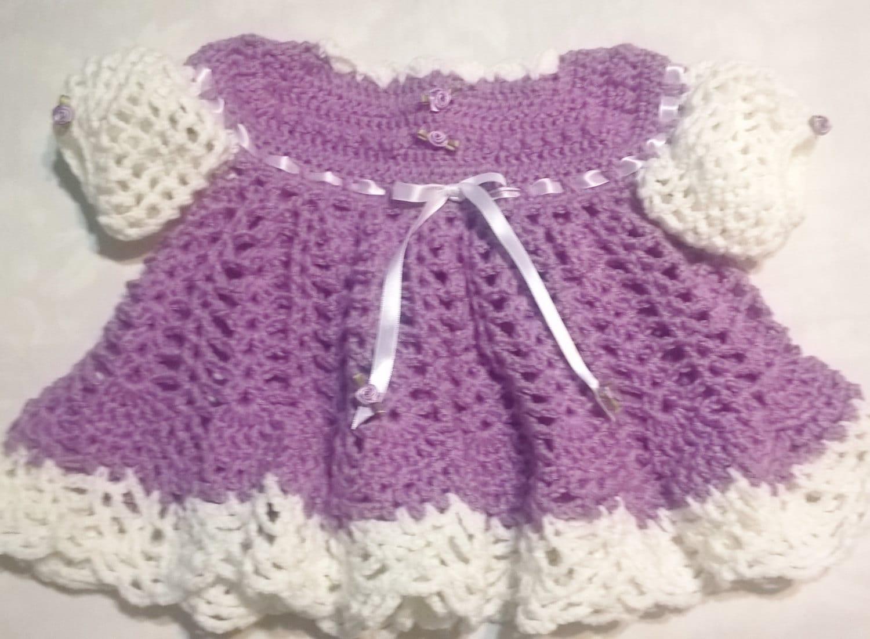 Vestido de ganchillo bebé
