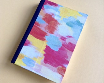 Colorful Journal, brush stroke journal, artists notebook, painting log