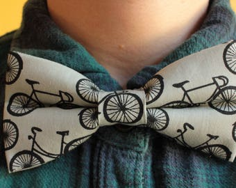 Grey and black Bicycles Bowtie / Bow tie - Bikes, Cycling