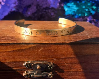 Ariel inspired cuff bracelet