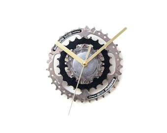 Modern Wall Clock, Small Wall Clock, Industrial Wall Clock, Small Bike Clock, Steampunk Wall Clock, Bicycle Wall Clock, Bike Wall Clock