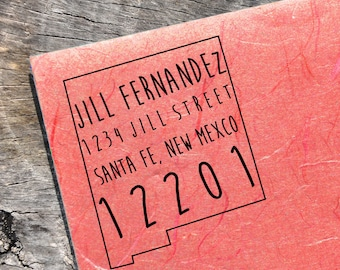New Mexico Address Stamp, Custom New Mexico Address Stamp, State Stamps
