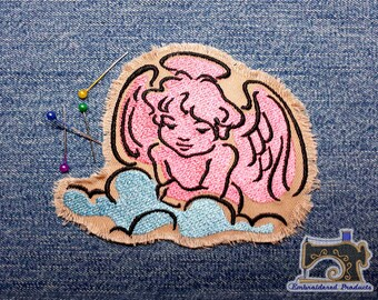 Angel Patch - Embroidered patch - Iron on Patch - Sew on Patch