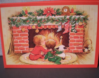 Vintage 1980's Unused Christmas Postcards - Set Of 17