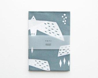 "Tenugui (Japanese Cotton Towel Fabric) dyed with 'Chu-sen' - ""Gulls"""