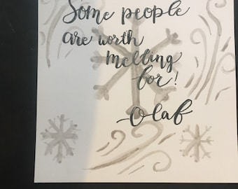 Watercolor Quote Tile