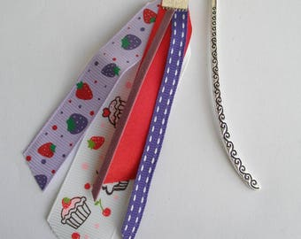 """""""greed"""" for cupcake and strawberry girl bookmark"""