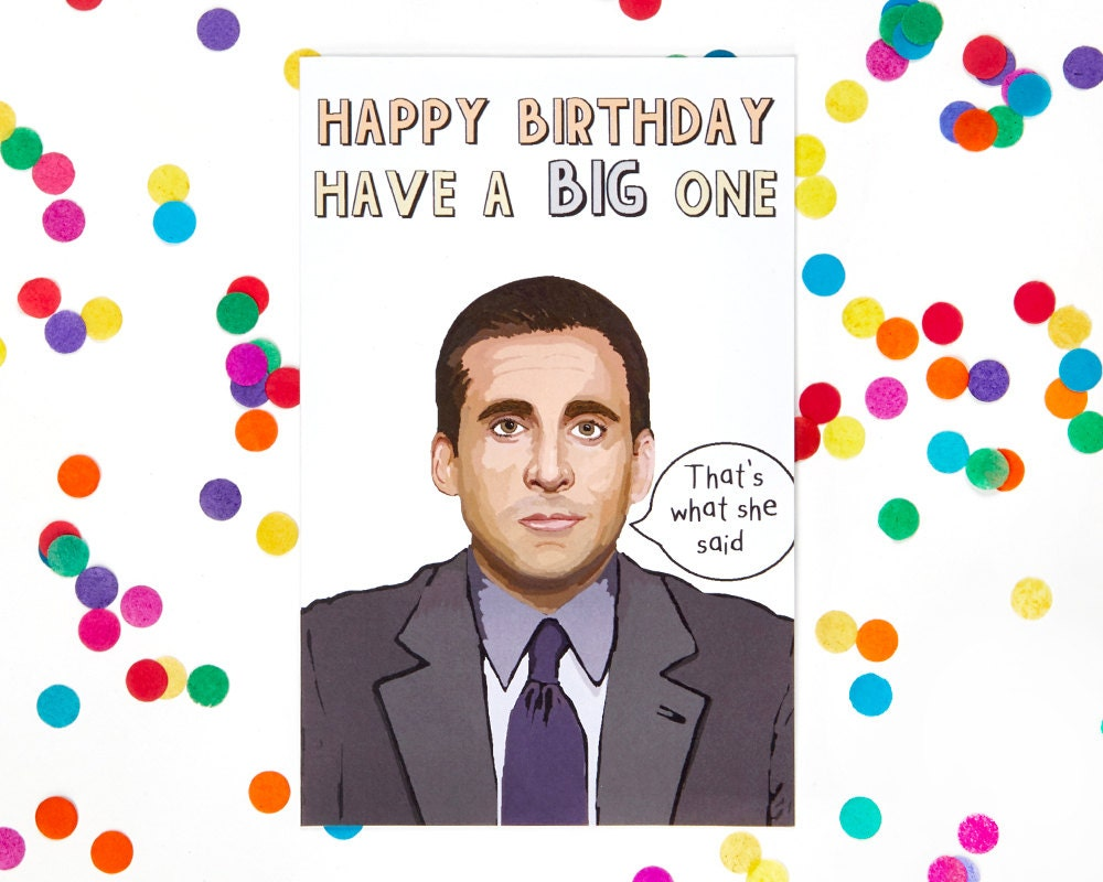 Michael scott the office tv show birthday card dwight zoom bookmarktalkfo Images