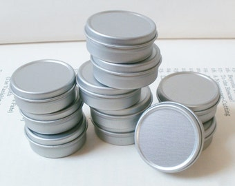Small Metal Tins, Blank Round (Set Of 20) Silver Color