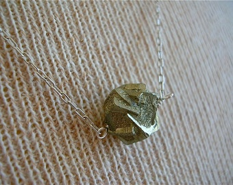 Piece of the Universe - Pyrite Nugget Pendant Necklace