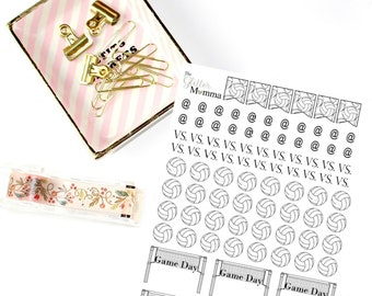 Volleyball Planner Stickers | Erin Condren Life Planner Vertical