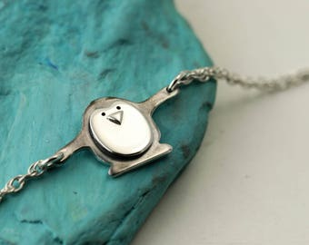 Sterling Silver Penguin Bracelet - Penguin Gifts